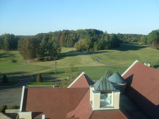 Your hotel room at The Grandover Resort and Spa might overlook a beautiful golf course.