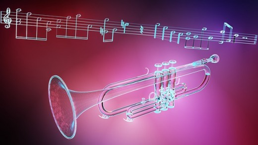 Trumpet sounds of salsa