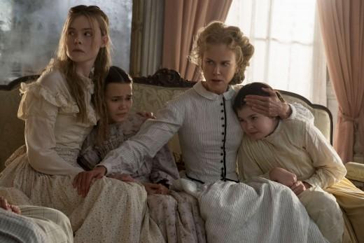 Miss Martha Farnsworth (Nicole Kidman) as she comforts the girls.