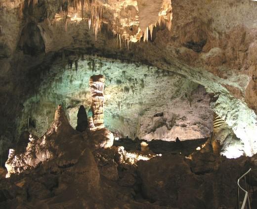 View inside Carlsbad Caverns