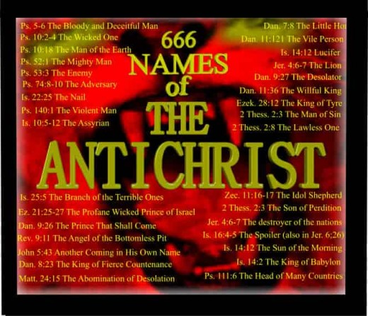 this photo is about the names of Anti-Christ that has more than 30 names and this is a 100 % proven and confirmed with the supportive bible verses mentioned in the photo from left to right
