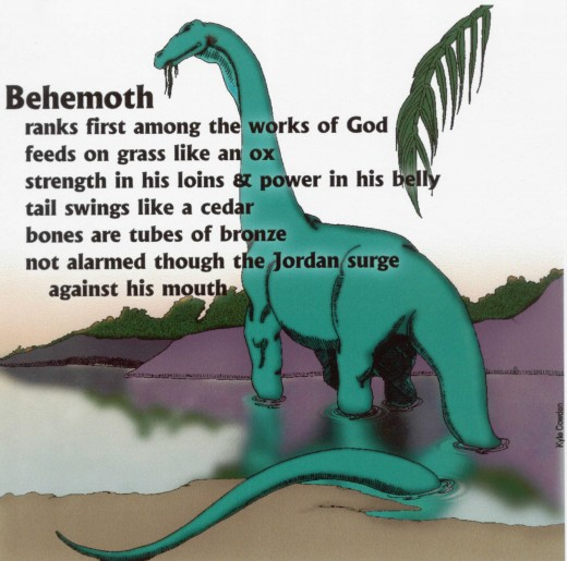 Behemoth is kind of dinosaur that is proven found in the book of Job 40:15-19