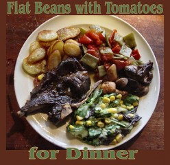 How to Make Flat Beans with Tomatoes for Dinner