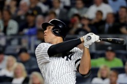 Judge goes 2 for 3 w/a  HR, walk, K & 2B that tied the game. Yankees comeback to win game 4, 6-4