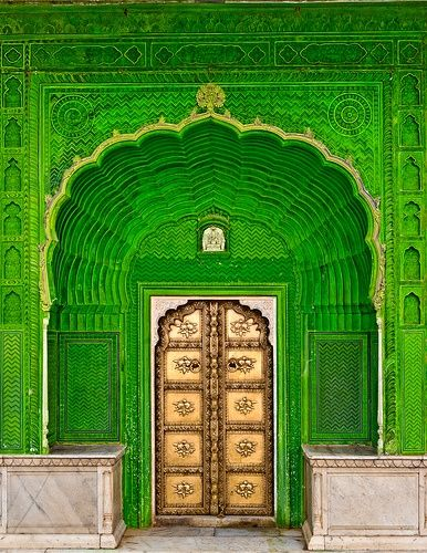 City Palace's Door of Ganesh in Jaipur