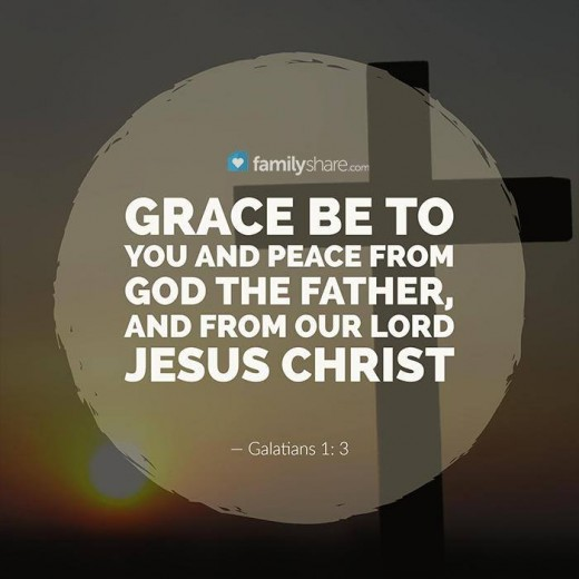 This photo is about Galatians 1: 3 - Grace be to you and peace from God the Father, and from our Lord Jesus Christ