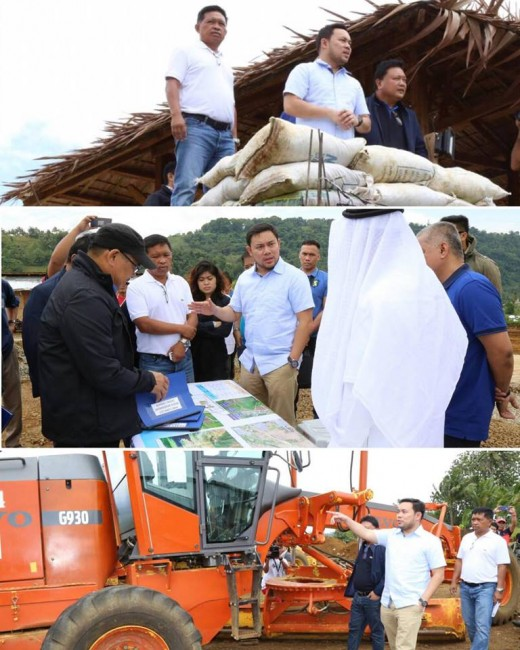Sec. of Dept of Public Works & Highway Mark Villar is shown on ground zero to assess damages on infrastructure, road network. Following President Duterte's mandate, he's gearing up to do his share of the work to rebuild a better Marawi.