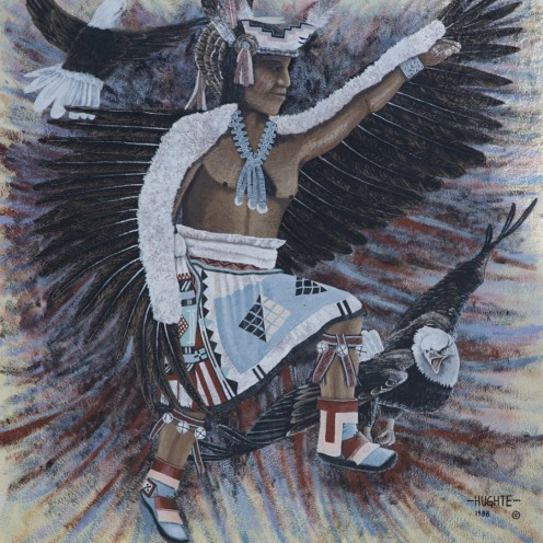 This is one of the many murals on display at the Indian Pueblo Cultural Center in Albuquerque where you can see thousands of pieces of pottery, jewelry, textiles, baskets, photographs, prints, paintings, and archaeological artifacts.