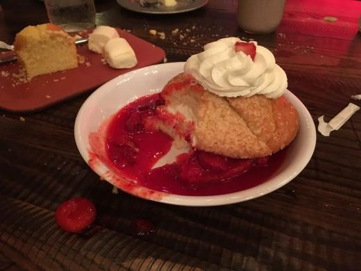 The strawberry shortcake. So yummy.