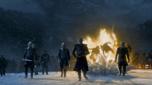Fire and Ice take on a new meaning when we speak of the White Walkers