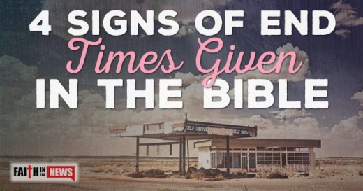 This photo is about 4 signs that is given in the Bible