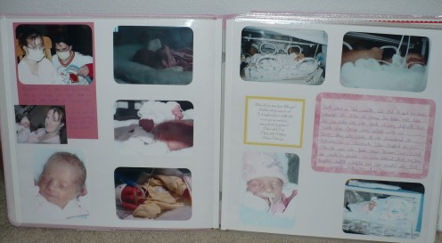 The first pages I put together were of my daughter in the NICU