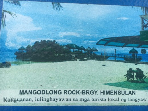 Signage Showing A Tourist Attraction in Camotes