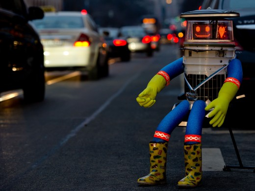 HitchBot Doing What He Loved to Do