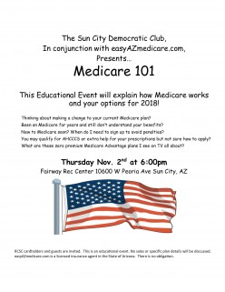 Democratic Club Blog of Sun City Arizona November 2017