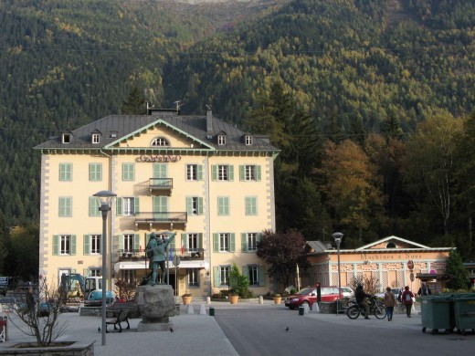 Casino in the center of town Chamonix, France