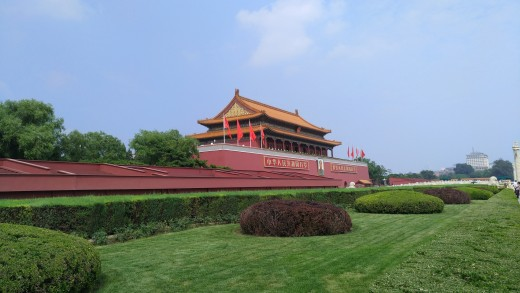 Tourists visit the historic areas of the city including Tianamen Square which is famous for its early history and for the more recent protest and massacre.