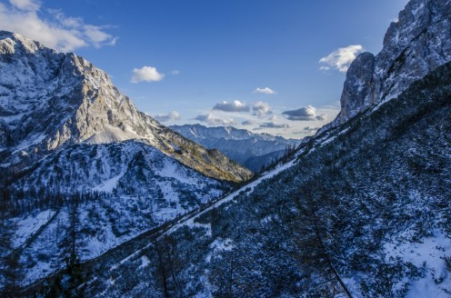 Mountain Snow Peak Blue Sky