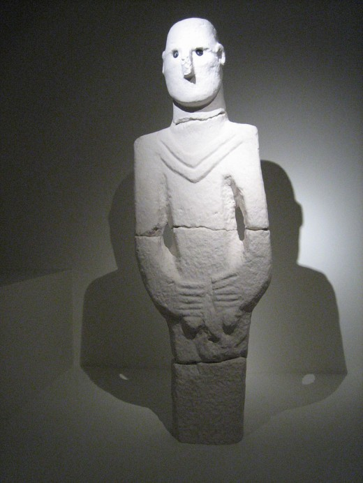 """""""Urfa Man"""", believed by some to be the first depiction of a black eyed being."""