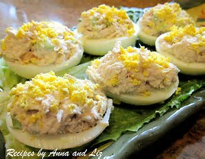 Egg Salad in Deviled Eggs