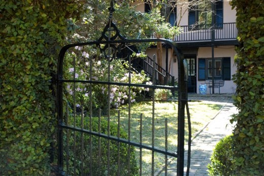 A Gated Walkway at the Battery Carriage House Inn