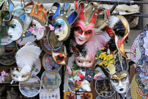 Here the masks give the picture a pattern