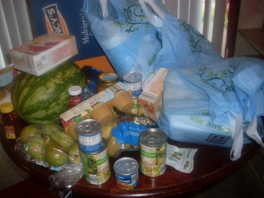 Watermelons and pears are among the fruits that our family likes to purchase from Aldi supermarket.