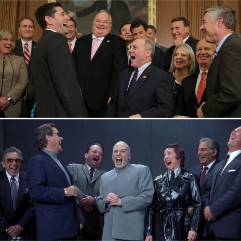 Dr Evil's Crew is now played by Republican Congressmen
