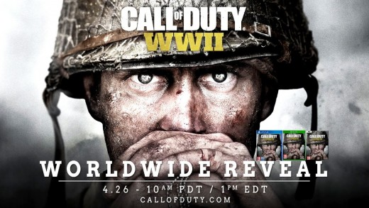 Greatest Video Game Release for 2017 - Call of Duty: WWII (launches on 3rd November, 2017)