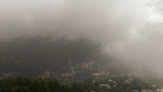 A view of Nainital from Dorothy's Seat
