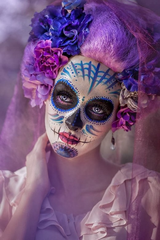 Sugar Skull Makeup: Not traditional, definitely not indigenous ... but very Catholic.
