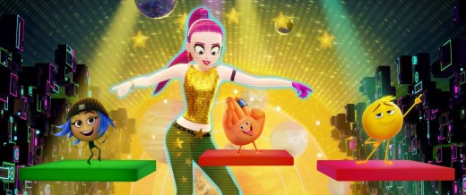 "Jailbreak, Gene, and Hi-5 dancing in the ""Just Dance"" app."