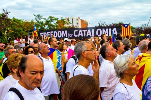 For the last few weeks people in Barcelona in the province of Catalonia are protesting, because they want to be independent from Spain. But Spain will not allow it, so, there are serious problems.