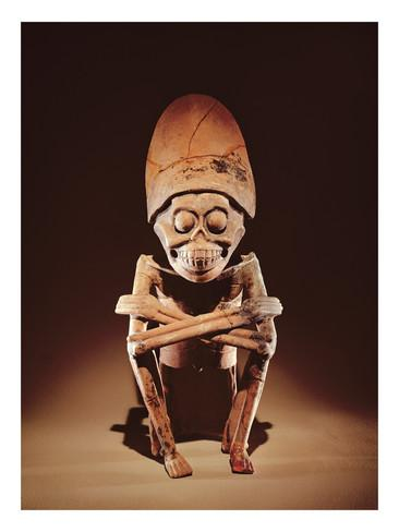 Mictlantecuhtli, Aztec God of the Underworld.