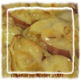 Gratin made with carmelized onions is aromatic and delicious!