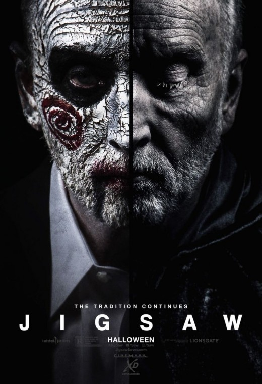 Jigsaw (2017) - John Kramer (the original Jigsaw serial killer) is back from the dead. The Jigsaw games are back upon us, and things just got personal.