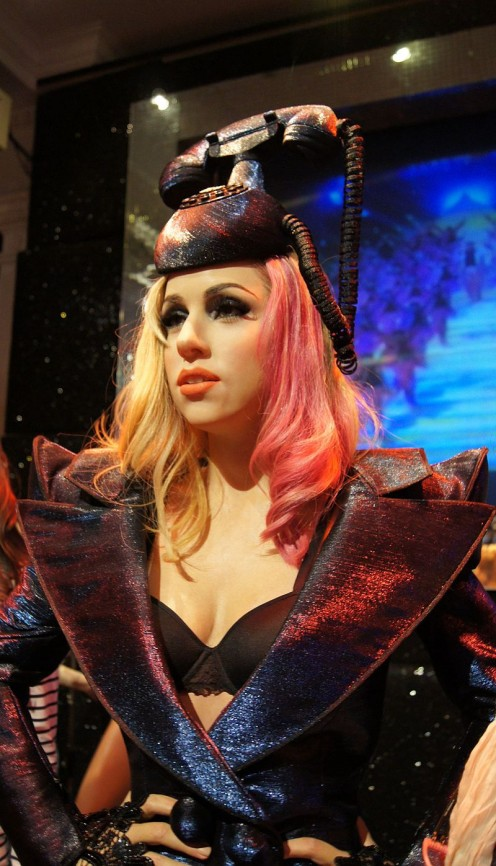 Wax figure of Lady Gaga