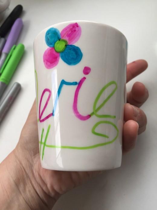 Create your own custom design on any ceramic  mug.