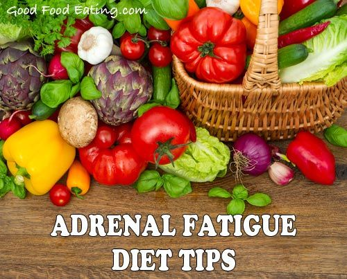 Changing your diet is important when you are trying to give your adrenal glands the rest they need.