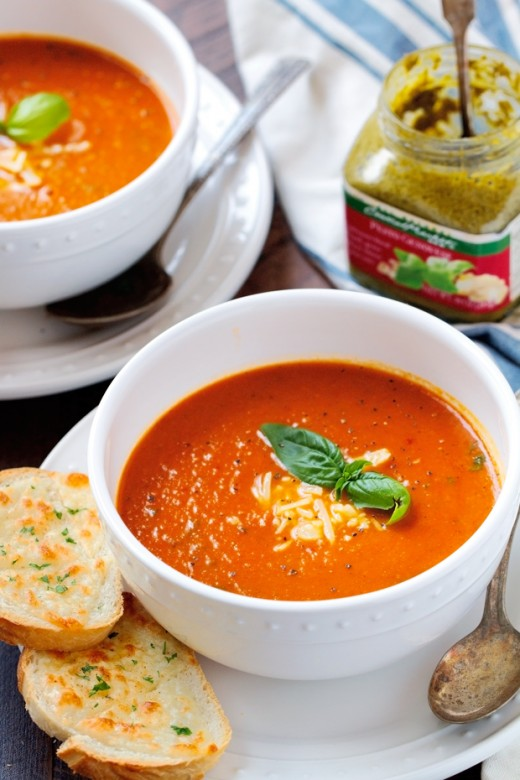 Tomato Basil Soup is ready to serve.