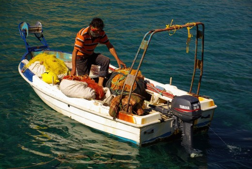 Fishing is a traditional occupation in Crete