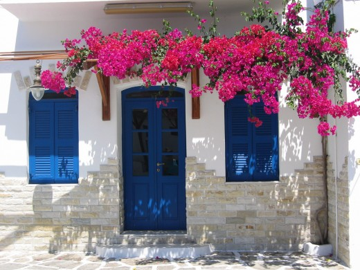 In Greece there was a custom to paint all doors and window frames blue to prevent evil spirits from entering
