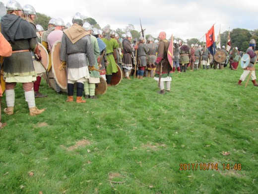 The English shieldwall forms for the 951st October since King Harold and his brothers, Gyrth and Leofwin fell in the day-long fight against Duke William's invasion force. The outcome was not guaranteed for the Normans and their allies until dusk