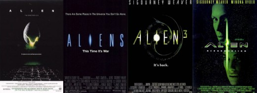 "Alien Franchise - At first, there was Ridley Scott's ""Alien"", then there was James Cameron's ""Aliens"", then David Fincher's ""Alien 3"", and... well, who cares about the rest."