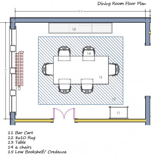 A rough floor plan will give you a general idea which furniture pieces you need and where to place them.