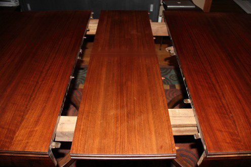 Dining room tables that include a leaf will give you additional room for hosting dinner parties and holiday meals.