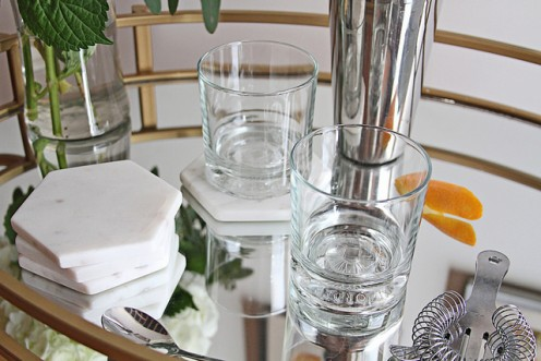 Set your cocktail bar on the balcony before guests arrive.