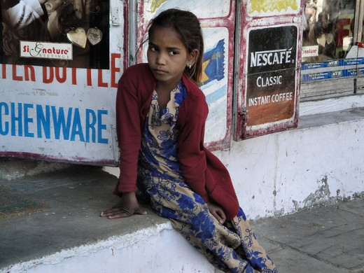 Young girls like this one living in India are in danger of becoming sex trafficking victims.