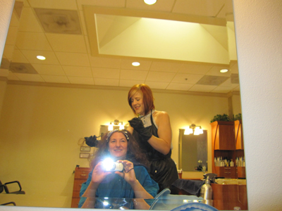 My wonderful hair stylist and shrink, Sheila