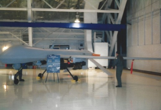 A Predator on display at the Andrews AFB Open House, May 2003.